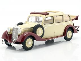 Mercedes-Benz 260 D (W138) Pullman Landaulet 1936 beige / dark red 1:18 Triple9