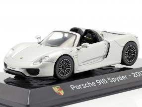 Porsche 918 Spyder Baujahr 2013 liquid silber 1:43 Altaya