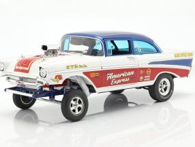 Chevrolet Bel Air Gasser American Express 1957 white / red / blue 1:18 GMP