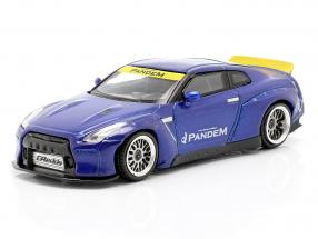 Pandem Nissan GT-R (R35) LHD Duck Tail velocity blue 1:64 True Scale