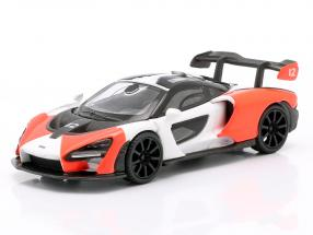 McLaren Senna LHD #12 2018 red / white / black 1:64 TrueScale