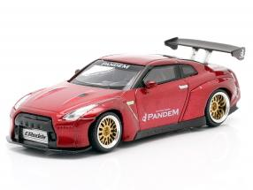 Pandem Nissan GT-R (R35) LHD GT Wing lava red 1:64 True Scale