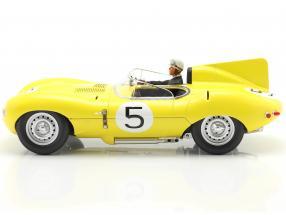 Set: Jaguar D-Type #5 4th 24h LeMans 1956 with driver figure  CMR