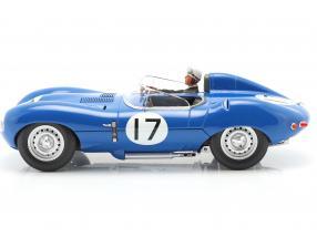 Set: Jaguar D-Type #17 3rd 24h LeMans 1957 with driver figure  CMR