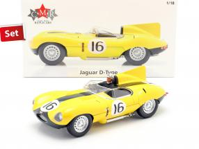 Set: Jaguar D-Type #16 4th 24h LeMans 1957 mit Fahrerfigur 1:18 CMR