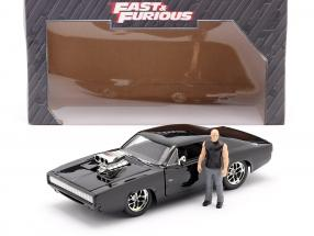 Dom's Dodge Charger R/T 1970 Movie Fast & Furious (2001) with figure 1:24 Jada Toys