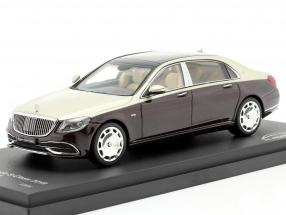 Mercedes-Maybach S class 2019 ruby black / aragonite silver 1:43 Almost Real