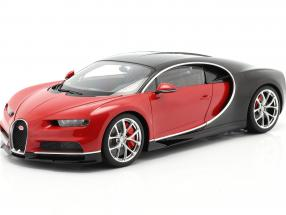 Bugatti Chiron year 2017 red / black 1:12 AUTOart