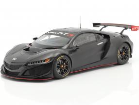 Honda NSX GT3 year 2018 mat black 1:18 AUTOart