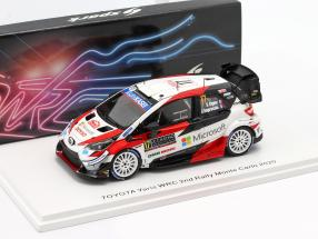 Toyota Yaris WRC #17 2nd Rallye Monte Carlo 2020 Ogier, Ingrassia 1:43 Spark