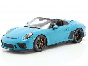 Porsche 911 (991 II) Speedster year 2019 light blue 1:18 Spark