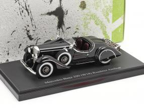 Mercedes-Benz 290 (W18) Roadster Amilcar year 1933 black 1:43 AutoCult