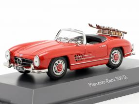 Mercedes-Benz 300 SL Roadster (W198) Ski vacation year 1957-1963 red 1:43 Schuco