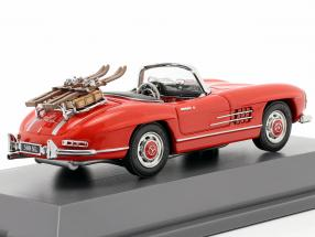 Mercedes-Benz 300 SL Roadster (W198) Ski vacation year 1957-1963 red
