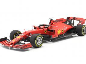 Sebastian Vettel Ferrari SF90 #5 4th Belgian GP formula 1 2019 1:18 BBR