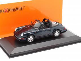 Porsche 911 (964) Carrera 2 Targa 1991 dark green metallic 1:43 Minichamps