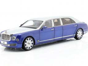 Bentley Mulsanne Grand Limousine by Mulliner silver / blue 1:18 Almost Real