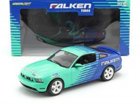 Ford Mustang GT Falken Tires 2010 blue / green 1:18 Greenlight