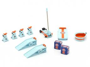 Gulf Tool Set blue / orange 1:18 GMP
