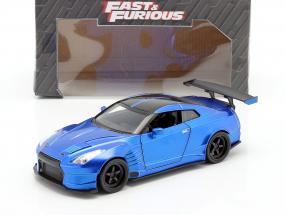 Brian's Nissan GT-R (R35) Ben Sopra 2009 Fast and Furious blue 1:24 Jada Toys