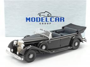Mercedes-Benz 770 (W150) Cabriolet 1938-1943 black 1:18 Model Car Group