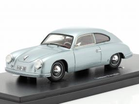 Lindner Porsche prototype year 1953 silver blue 1:43 AutoCult
