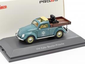 Volkswagen VW Beetle Beutler platform blue 1:43 Schuco