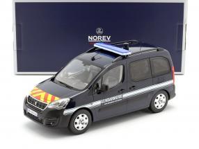 Peugeot Partner Gendarmerie year 2018 dark blue 1:18 Norev