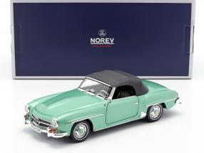 Mercedes-Benz 190 SL year 1957 light green metallic 1:18 Norev