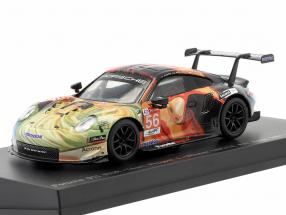 Porsche 911 RSR #56 winner LMGTE Am 24h LeMans 2019 Team Project 1 1:64 Spark