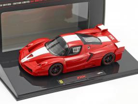 Ferrari FXX 2006 red with white stripe 1:43 HotWheels Elite