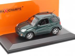 Toyota RAV4 year 2000 dark green metallic 1:43 Minichamps
