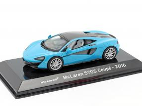 McLaren 570S Coupe Construction year 2016 blue metallic / black 1:43 Altaya