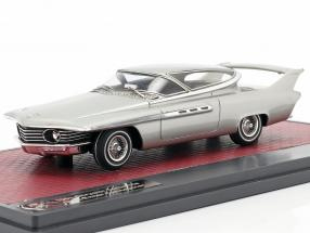 Chrysler Turboflite Ghia-Exner Concept car year 1961 silver metallic 1:43 Matrix