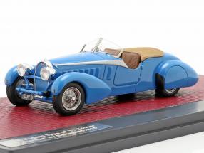 Bugatti Type 57 TT Tourer Therese year 1935 blue 1:43 Matrix