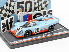 Porsche 917K #20 24h LeMans 1970 50th Anniversary Gulf Racing 1:43 Brumm