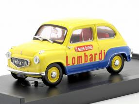 Fiat 600 Brodo Lombardi 1960 Veicolo Commerciale yellow / blue 1:43 Brumm