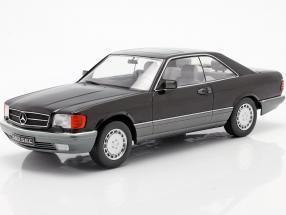 Mercedes-Benz 560 SEC C126 year 1985 black 1:18 KK-Scale