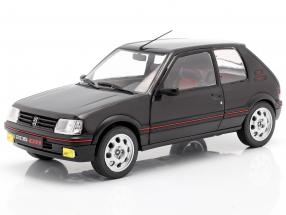 Peugeot 205 GTI MK2 black / red 1:18 Solido