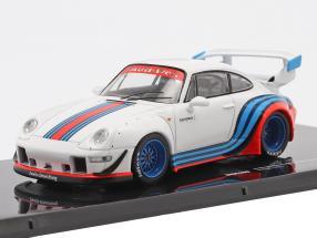 Porsche 911 (993) RWB Rauh-Welt Martini white 1:43 Ixo