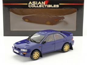 Subaru Impreza year 1996 blue 1:18 Sun Star
