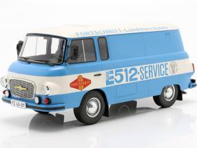 Barkas B 1000 Kastenwagen Fortschritt-Service blue / white 1:18 Model Car Group