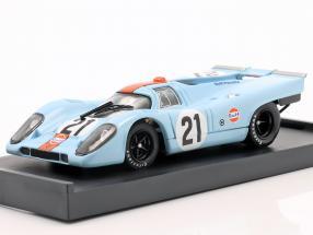 Gulf Porsche 917K #21 Rodriguez & Kinnunen 24h LeMans 1970 1:43 Brumm