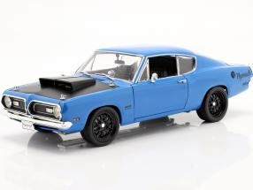Plymouth Hemi Cuda Street Fighter year 1969 blue 1:18 GMP