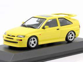 Ford Escort Cosworth year 1992 yellow 1:43 Minichamps