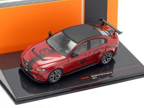 Jaguar XE SV Project 8 year 2017 dark red metallic 1:43 Ixo