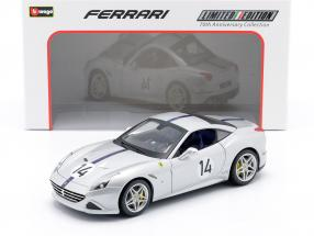 Ferrari California T #14 The Hot Rod 70th Anniversary Collection silver 1:18 Bburago