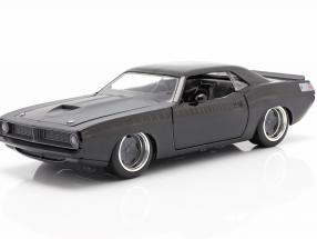 Letty's Plymouth Barracuda 1970 Fast & Furious 7 (2015) black 1:24 Jada Toys