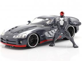 Dodge Viper year 2008 with figure Venom Marvel Spiderman 1:24 Jada Toys