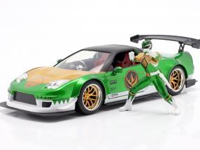 Honda NSX Type R 2002 with figure Green Ranger Power Rangers 1:24 Jada Toys